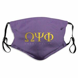 fishappleeatall Ome-Ga Psi-Phi Masque anti-Dt réglable pour adulte