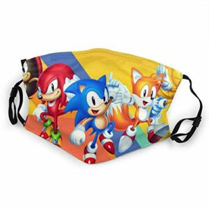 fishappleeatall Sonic 2021 The Hedgehog Dt Demi-masque réglable pour extérieur