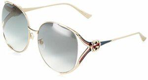 Gucci GG0225S 004 Montures de lunettes, Or (4/Grey), 63 Femme