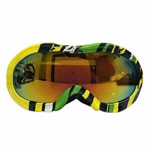 HEXUAN lunettes de ski enfant double couche antibuée lunettes de ski lunettes de ski grand modèle lunettes sphérique lunettes de myopie lunettes de ski