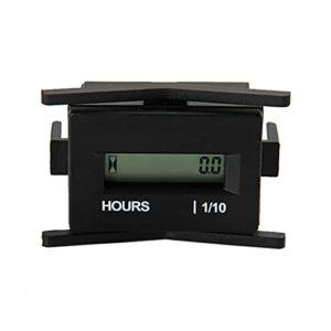 linger Digital LCD Hour Quritmètre AC 86-230V Dispositif pour Motocross VTT Dirt Vélo Diesel Gasoline Bûcher Splitter Coupe -One Motoneige Jet Ski Ski (Color : Black)