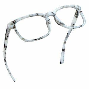 Lunettes de blocage de la lumière bleue LifeArt, lunettes de lecture d'ordinateur, lunettes de jeu, lunettes de télévision pour femmes hommes, anti-éblouissement(Marbre, grossissement de 1,50)
