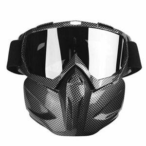 Lunettes de protection résistantes à la saleté Lunettes de soleil résistantes à l'usure Lunettes de sport pour Protect Sécurité pour(Carbon fiber black)