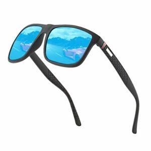 Lunettes de soleil polarisées pour hommes et femmes; cadres vintage/classiques/élégants; objectifs haute définition; golf/conduite/pêche/sports de plein air/lunettes de soleil tendance (Bleu【1】)