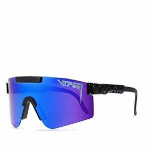 Lunettes de soleil Sports, Lunettes de soleil UV400 Polarized Sports Sunglasses, Verres à vélo TR-90 UV, pour la course à pied, la pêche, l'alpinisme, la randonnée, les activités de plein ai (C5)