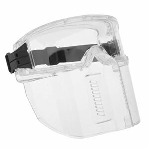 Milageto Lunettes Anti-éclaboussures Sécurité Transparente Coupe-vent Bouclier Facial Complet Atelier de Cuisson Polissage Résistant Aux Chocs Résistant à La C