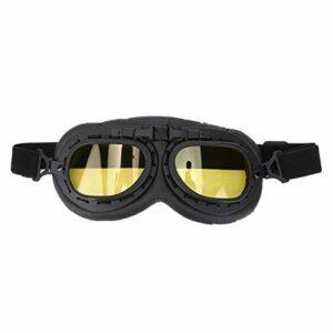 Mxzzand Étanche Anti-Choc iding Eye Protect Lunettes d'extérieur élégantes Lunettes à Monture Noire pour Protect(A124 Yellow Film-Black Frame)