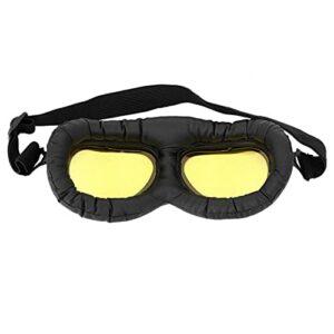 Mxzzand iding Eye Protect Lunettes à Monture Noire Lunettes d'extérieur Anti-Choc Pratique pour la Conduite de(A124 Yellow Film-Black Frame)