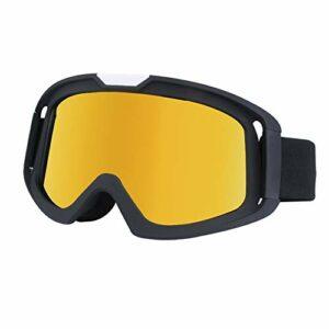 Pumpumly Lunettes de moto, lunettes de ski, lunettes anti-sable, lunettes d'alpinisme, de cyclisme, de soudure, lunettes de sport rembourrées en mousse épaisse, sangle réglable