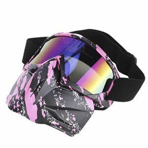 Résistantes à l'usure Lunettes de protection fiables et résistantes à la saleté Lunettes de soleil fiables Lunettes de sport pour motocross(Pink)