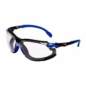 Solus S1101skt Lunettes de sécurité, anti-buée, cadre objectif clair, bleu/noir