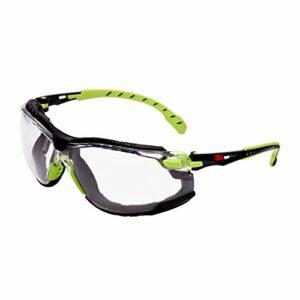 Solus S1201skt Lunettes de sécurité, anti-buée, verres transparents, Vert/cadre noir