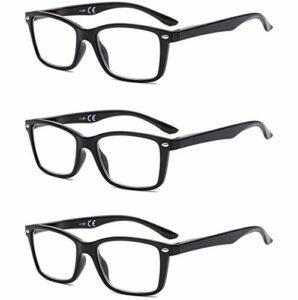 Suertree Lunettes de Lecture, Lunettes de Pour Ordinateur Aide visuelle Soins oculaires Lunettes Aide à la lecture pour femmes Hommes de Lunettes 1.5 BM151