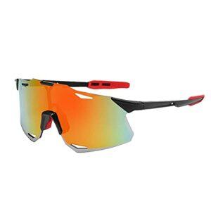 Akkem Lunettes de Cyclisme Polarisées Protection Anti-UV400 Lunettes de Soleil Hommes Femmes Sports de Plein Air pour Cyclisme Moto Ski Pêche Golf et Activités d'Extérieures