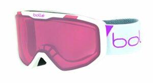 Bollé ROCKET White Race Matte / Vermillon Cat.2 | Small – Masque de ski Unisexe-Enfant