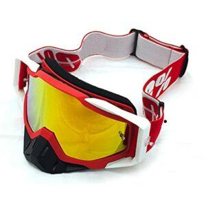 CHQY Lunettes de sport polarisées, lunettes de soleil, lunettes de vélo, lunettes de protection contre le vent, lunettes de sable, bandeau élastique réglable + verres épais en polycarbonate B