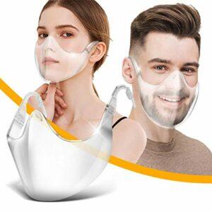 CZYSKY Lot de 4 lunettes de sécurité anti-buée, visières faciales réutilisables, légères pour protéger les yeux, le nez et la bouche des adultes, hommes et femmes