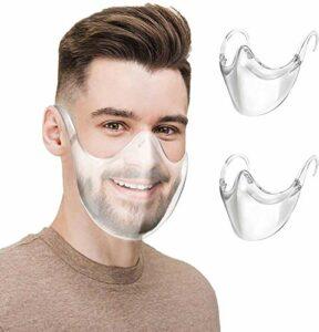 CZYSKY Lot de 4 visières pour lunettes, visières faciales, réutilisables pour protéger les yeux, le nez, la bouche pour hommes et femmes