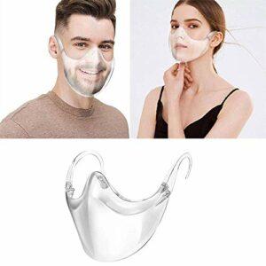 CZYSKY Lunettes de sécurité anti-buée, visières faciales, réutilisables, transparentes, légères, confortables et efficaces, restez élégantes avec ce bouclier transparent minimaliste 2 pièces.
