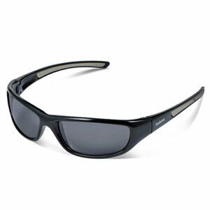 Duduma Lunettes de Soleil Polarisées Sports pour Ski Conduite Golf Course Cyclisme Conception du Cadre Tr8116 Super Léger pour Hommes et Femmes