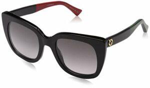 Gucci GG0163S 003 Montures de Lunettes, Noir (3/Grey), 51 Femme