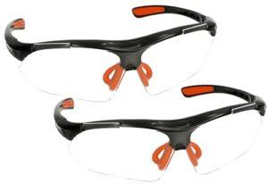 KOTARBAU® Lot de 2 paires de lunettes de protection pour les yeux contre les éclaboussures, les éclats et la poussière – Légères et professionnelles