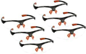 KOTARBAU® Lot de 6 paires de lunettes de protection pour les yeux contre les éclaboussures, les éclats et la poussière – Légères et professionnelles