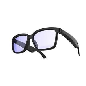 Lunettes Bluetooth intelligentes, Bluetooth sans fil 5.0 Casque ouvert, Lunettes de soleil de la mode Musique Sunglasses Outdoor Night Vision Pêche, Écouteurs de cyclisme en plein air Casque de sport