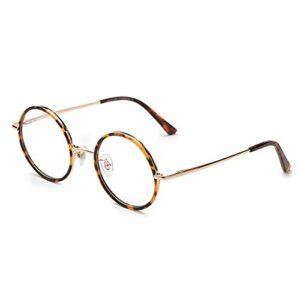 Lunettes De Lecture Anti-bleue Pour Une Optique De Lecture Femmes Et Hommes Rétro Spectacles Ronds Presbyopia Hyperopia Hyperopia Grossissante Lunettes Optiques