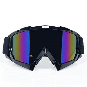 Lunettes De Moto Derniers lunettes de motocross Verres hors route Masque Casques Lunettes Goggles Ski Sport Gafas pour la saleté de moto Lunette Moto Vintage (Color : 3)