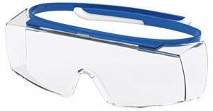 Lunettes de Protection uvex Super OTG Retail | Oculaire PC Incolore | Certifiées NF en 166 170 | Lentilles Antibuée | Résistantes aux Rayures – Produits Chimiques | Protection UV400 | Légeres