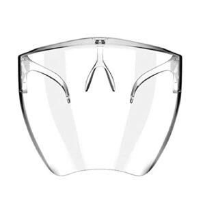 Lunettes De Sécurité Écran Transparent Respirante Lunettes De Protection Anti-poussière Bouclier pour L' La Femme Bouche Protection (m)
