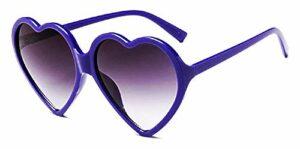 Lunettes de soleil coeur femme – femme – transparent – lolita – polarisées – femme – fille – monture violette – uv400 – verres violets – idée cadeau originale