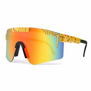 Lunettes de soleil de sport polarisées, lunettes de cyclisme pour course à pied, alpinisme, golf, vacances, randonnée, pêche (E)