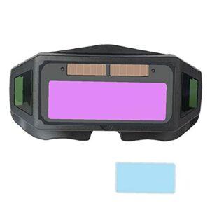 Lunettes de soudage automatique assombrissement solaire Powered utilisation TIG MIG facile de ne pas l'usure facile Soudeur Anti-Glare Lunettes avec protection Film