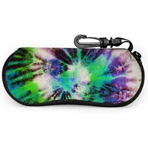 lymknumb Coloré cravate teint motif abstrait étui de lunettes étui à lunettes de soleil souple étui à glissière en néoprène étui à lunettes de protection