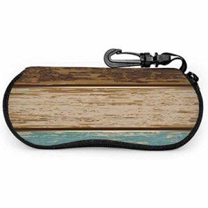 lymknumb Étui à lunettes moderne en bois de grain de bois en bois forestier étui à lunettes de soleil pour hommes