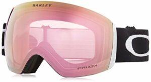 Oakley Flight Deck Masque de Ski Mixte Adulte,Matte Black/Prizm Hi Pink Iridium