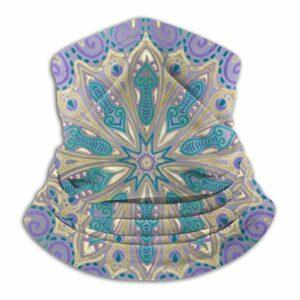 Shotngwu – Masque de protection anti-UV et anti-UV – Motif mandala coloré – Violet – Bleu et doré