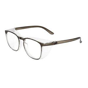 Sur-lunettes de protection UV avec protection latérale et branches antidérapantes/transparentes anti-buée et anti-rayures (GY)