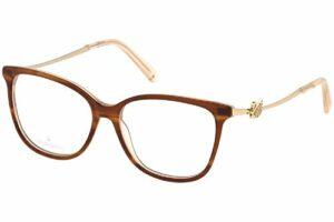 Swarovski cadre optique SK5304 047 plastique marron taille 53 mm de femmes