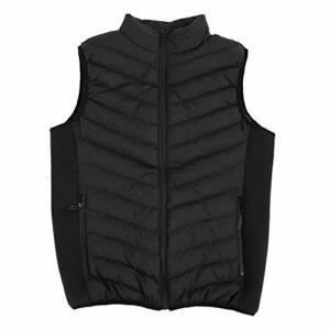 Weikeya Gilet chauffé, Système de Chauffage Gilet étanche à économie d'énergie Coton 75 x 55cm pour Les vêtements (Noir)