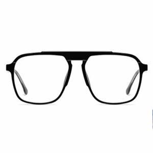 wgg sur-Le-Compteur Lunettes Anti-Bleus Anti-Oeil Fatigue Jeux informatiques Transparents Hommes et Femmes boîte de Lunettes Plats Lunettes légères (Color : Black)