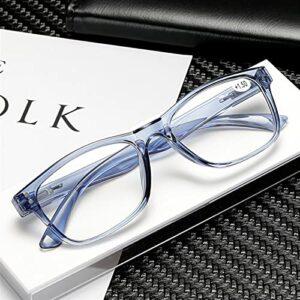 yqs Lunettes pour Lire Lecture de Lunettes Fashion Femmes & Hommes Clear Lens Lens Presbyopia Eyeglasses Hyperopie (Color : +300, Size : Blue)
