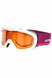 Alpina Ruby S Masque de ski pour enfant Blanc/violet Taille unique