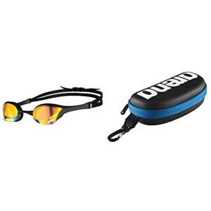 arena Cobra Ultra Swipe Mr Yell Lunettes de natation pour femme – Jaune cuivre-noir – Taille unique & Étui à lunettes de natation Unisexe, Noir/Blanc/Royal, Taille Unique
