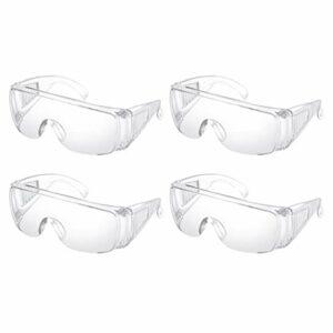 Artibetter Lot de 4 lunettes de protection pour moto – Protection contre la poussière, le vent et les éclaboussures – Protection individuelle pour un travail transparent