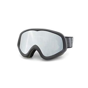 CZFSKCZ Masque de Ski, Lentille antibrouillard à Double Couche cylindrique extérieure sur Lunettes de Ski de Ski de Ski pour Hommes Femmes et Jeunesse (Color : Black)