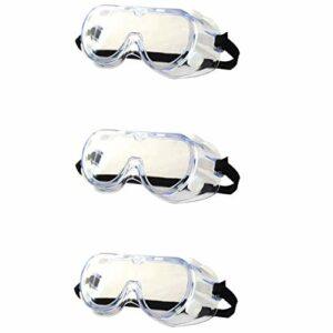 Exceart Lot de 3 paires de lunettes de protection UV Transparent