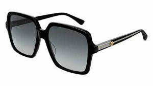 Gucci GG0375S-001 lunettes de soleil, Noir, 56.0 Femme